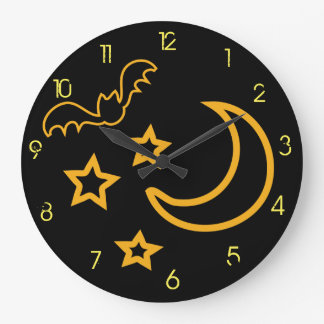 Reloj de pared de la noche de Halloween