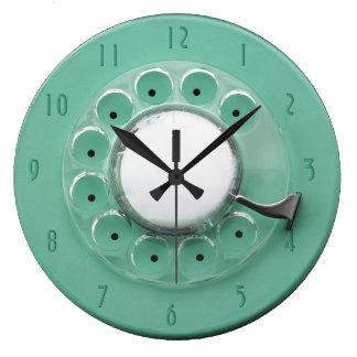 Reloj de pared de la novedad del dial rotatorio