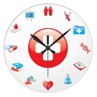 Reloj de pared de la oficina de la medicina