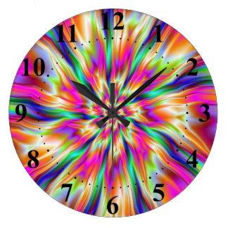 Reloj de pared de la ondulación de la frambuesa