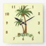 Reloj de pared de la palmera