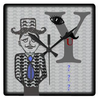 Reloj de pared de la parodia del hombre del bigote