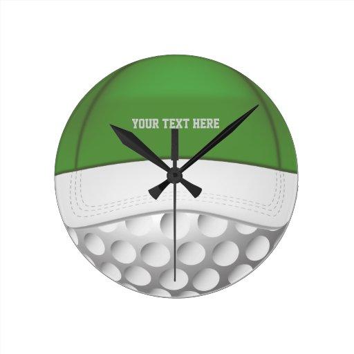 Reloj de pared de la pelota de golf