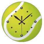 Reloj de pared de la pelota de tenis