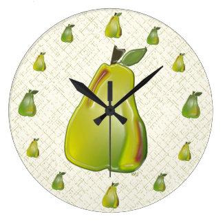reloj de pared de la pera 3D (WC)