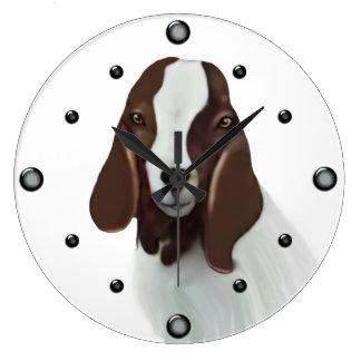 Reloj de pared de la pintura de la cabra del Boer