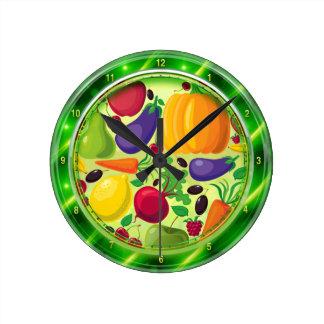 Reloj de pared de la placa de cristal de las