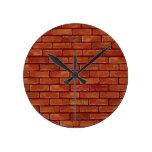 Reloj de pared de la plantilla de la pared de ladr