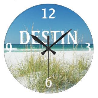 Reloj de pared de la playa de la avena del mar de
