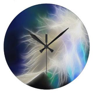 Reloj de pared de la pluma del ángel