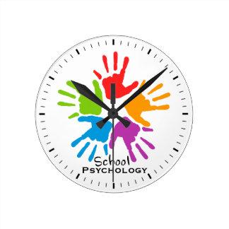 Reloj de pared de la psicología de la escuela de