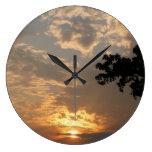 Reloj de pared de la puesta del sol