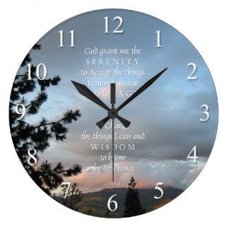 Reloj de pared de la puesta del sol del rezo de la