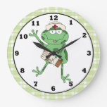 Reloj de pared de la rana de la enfermera