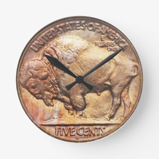 Reloj de pared de la recogida de moneda del