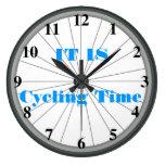Reloj de pared de la rueda de bicicleta