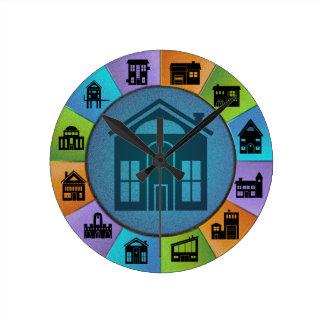 Reloj de pared de la rueda de la vivienda