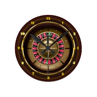 Reloj de pared de la ruleta del casino