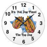 Reloj de pared de la tienda del perrito caliente