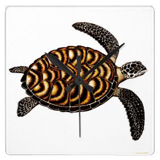 Reloj de pared de la tortuga de mar de Hawksbill