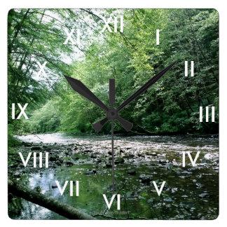 Reloj de pared de la tranquilidad con los números