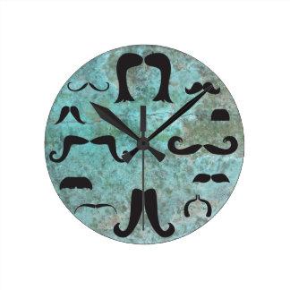 Reloj de pared de la turquesa de la manía del bigo