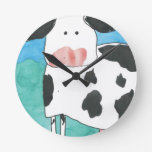 Reloj de pared de la vaca