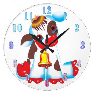Reloj de pared de la vaca del juguete