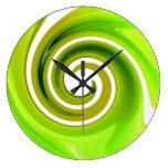 Reloj de pared de la verde lima