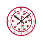 Reloj de pared de las cerezas del vintage