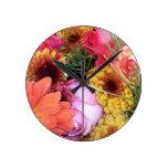 Reloj de pared de las flores