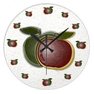 reloj de pared de las manzanas 3D (motas)