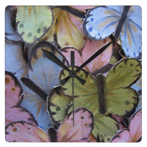 Reloj de pared de las mariposas