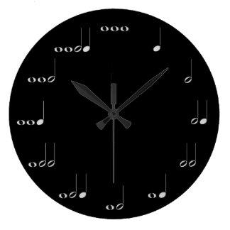 Reloj de pared de las notas musicales