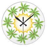 Reloj de pared de las palmeras