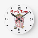 Reloj de pared de las palomitas de la película