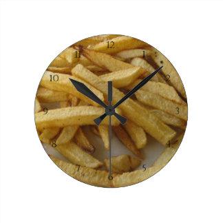 Reloj de pared de las patatas fritas