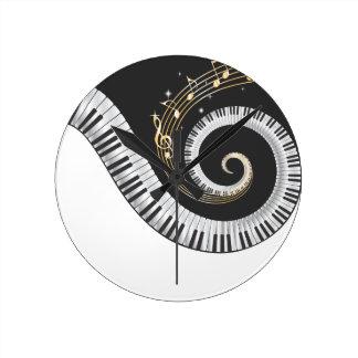 Reloj de pared de los amantes de la música del