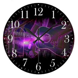 Reloj de pared de los amantes de la música del gui
