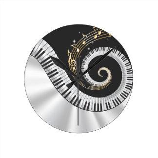 Reloj de pared de los amantes de la música del pia