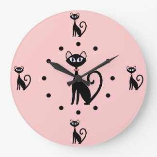 Reloj de pared de los amantes del gato