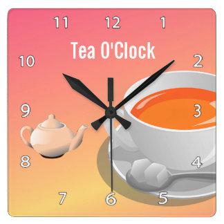 Reloj de pared de los amantes del té