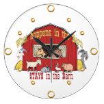 Reloj de pared de los animales del granero