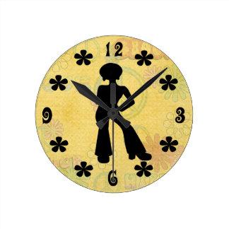 reloj de pared de los años 70