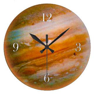 Reloj de pared de los Astronomía-amantes de Júpite