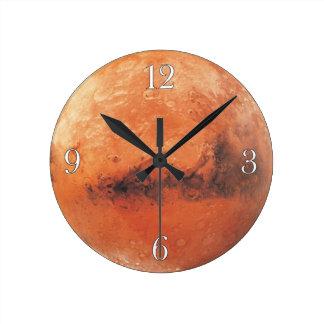 Reloj de pared de los Astronomía-amantes de Marte