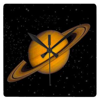 Reloj de pared de los Astronomía-amantes de Saturn