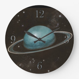 Reloj de pared de los Astronomía-amantes de Urano