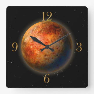 Reloj de pared de los Astronomía-amantes del plane