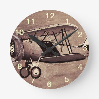 Reloj de pared de los aviones del vintage